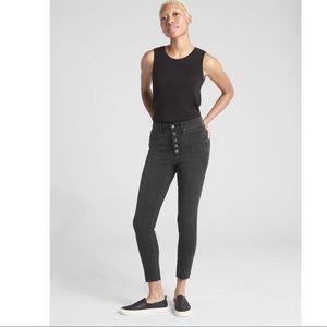Gap Black High Rise True Skinny Ankle Jeans